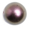 Glass 12mm Round Beads Metallic Bronze - Strung